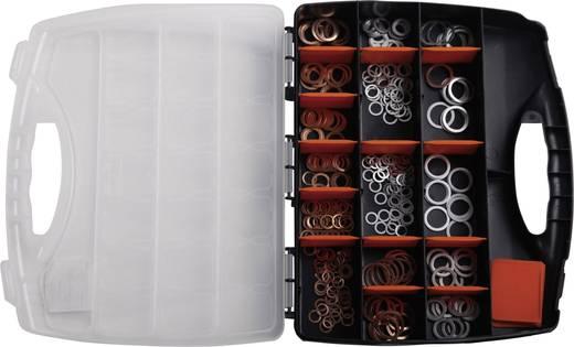 826407 316tlg. Kupfer-/Alu-Dichtring-Sortiment DIN 7603 Inhalt 316 St. 2f. Lieferumfang Je 158 CU/AL-Dichtringe 8 x 12 mm - 22 x 27 mm · 9-Fach-Kunststoffkoffer.