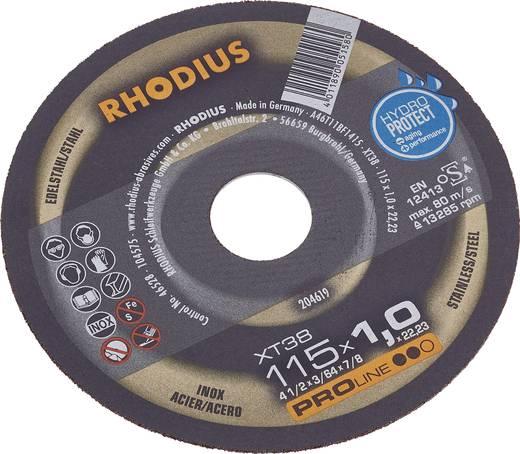 Trennscheibe gerade 125 mm 22.23 mm Rhodius FT38 TOP 205602 1 St.