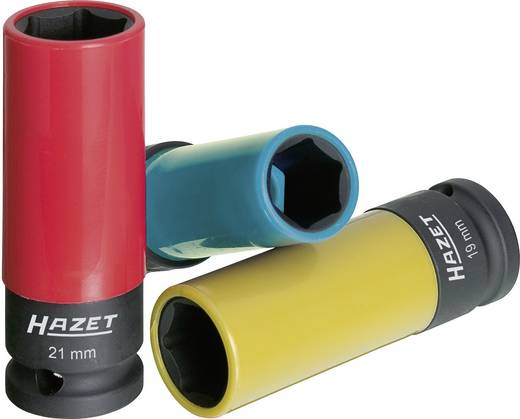 """Außen-Sechskant Kraft-Steckschlüsseleinsatz-Set 3teilig 1/2"""" (12.5 mm) Produktabmessung, Länge 85 mm Hazet 903SPC/3"""