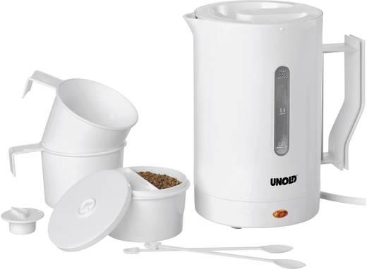 Wasserkocher kabelgebunden Unold 8210 Reise-Set Weiß