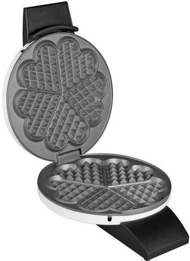 Cloer 1621 Herz-Waffeleisen mit manueller Temperatureinstellung Weiß, Schwarz