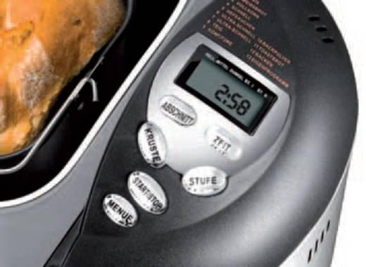 Brotbackautomat Timerfunktion Unold Onyx Edelstahl, Schwarz