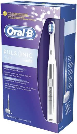 Elektrische Zahnbürste Oral-B Pulsonic Slim Schallzahnbürste Weiß, Silber