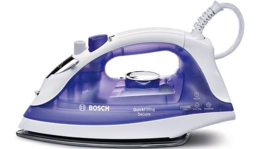 Bosch Haushalt TDA2377 QuickFilling Secure Dampfbügeleisen Weiß, Violett (transparent) 2200 W