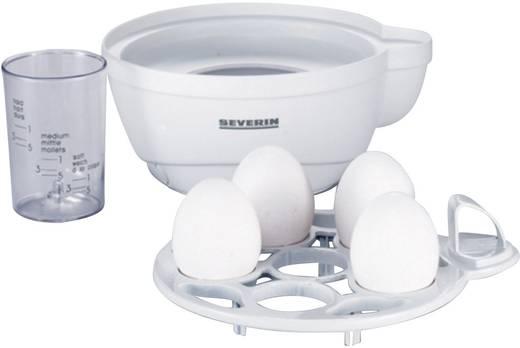 Eierkocher Severin EK 3051 mit Eierstecher, mit Messbecher Weiß, Grau