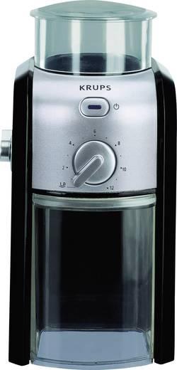 Kaffeemühle Krups GVX242 Schwarz, Edelstahl G VX2 42 Edelstahl-Scheibenmahlwerk