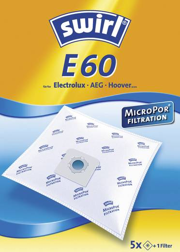 Staubsaugerbeutel Swirl E60 MicroPor 5 St.