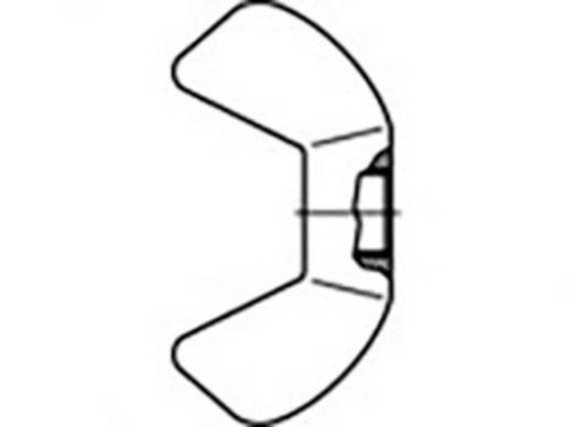 Flügelmuttern M4 Stahl verzinkt 10 St. TOOLCRAFT 827787