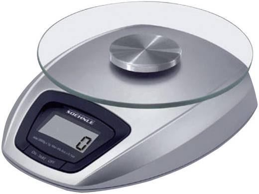 Küchenwaage digital Soehnle Siena Wägebereich (max.)=3 kg Silber