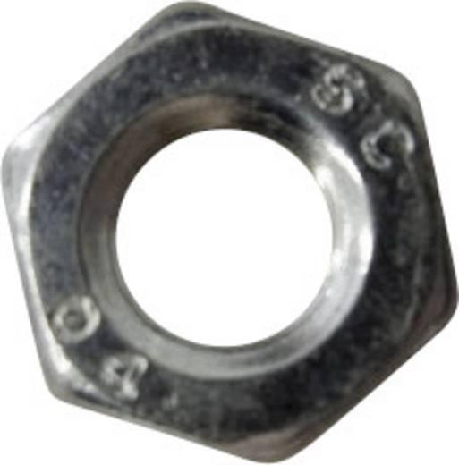 TOOLCRAFT 827814 Sechskantmuttern M3 DIN 439 Stahl verzinkt 100 St.