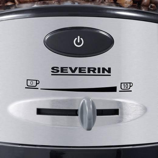 Kaffeemühle Severin KM 3874 Schwarz, Silber 3874 Edelstahl-Scheibenmahlwerk