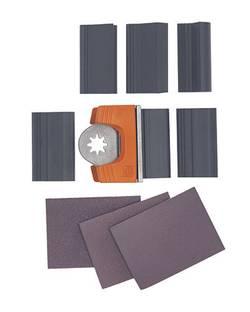 Brusný papír, pro Fein Multimaster, zrnitost 80/120/180, 12 ks