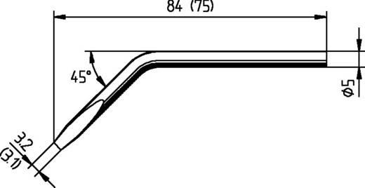 Lötspitze Meißelform, abgewinkelt, ERSADUR Ersa 052JD Spitzen-Größe 3.1 mm Inhalt 1 St.