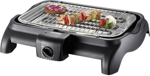 Severin PG 1511 Elektro Tisch-Grill mit manueller Temperatureinstellung Schwarz