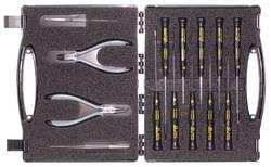 Sada kleští a šroubováků prémiové kvality C.K. T3707DX, 14dílná