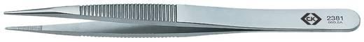 C.K. T2381 Präzisionspinzette 00D SA Stumpf-flach 120 mm