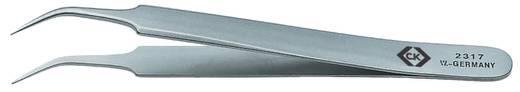 C.K. T2317 Präzisionspinzette Spitz, gebogen, fein 105 mm