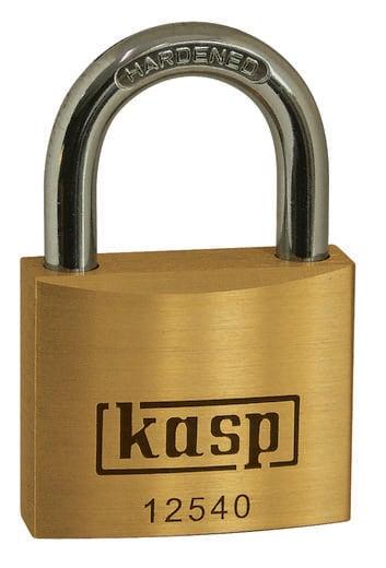 Kasp K12540A4 Vorhängeschloss 40 mm Gold-Gelb Schlüsselschloss