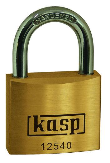Vorhängeschloss 50 mm Kasp K12550A6 Gold-Gelb Schlüsselschloss
