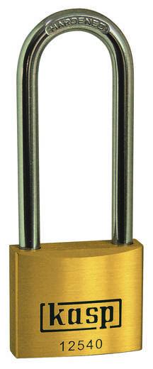 Vorhängeschloss 50 mm Kasp K12550L80A1 Gold-Gelb Schlüsselschloss