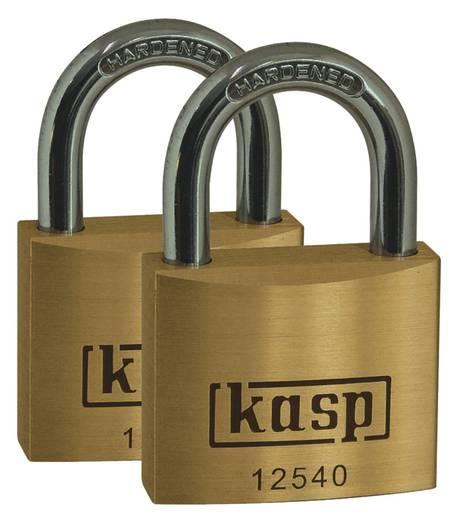 Vorhängeschloss 50 mm Kasp K12550D2 Gold-Gelb Schlüsselschloss