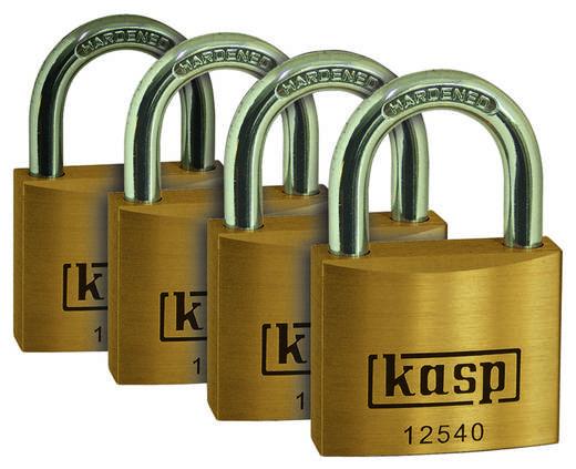 Vorhängeschloss 40 mm Kasp K12540D4 Gold-Gelb Schlüsselschloss