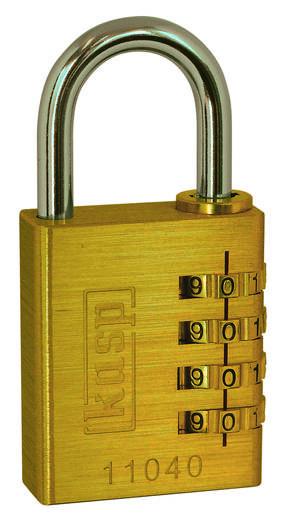 Vorhängeschloss Kasp K11040 Gold-Gelb Zahlenschloss