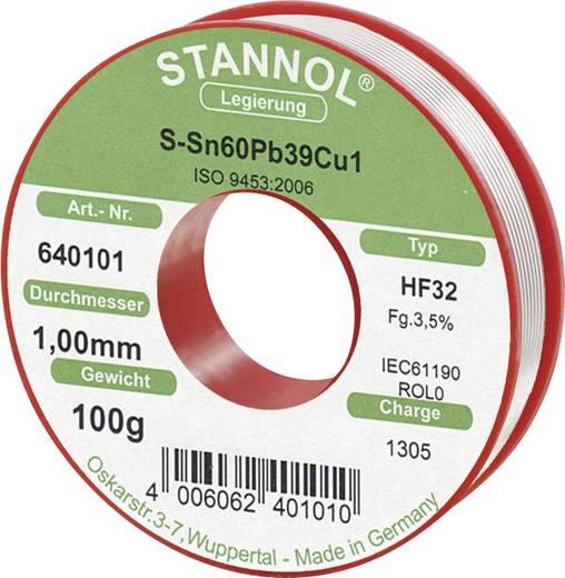 Lötzinn, bleihaltig Spule Stannol HF 32 Sn60Pb39Cu1 100 g 0.8 mm