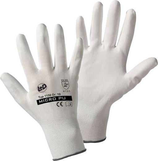Leipold + Döhle 1150 Mirco-PU Feinstrickhandschuh Nylon mit PU-Beschichtung Größe (Handschuhe): 8, M
