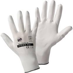 Pracovní rukavice Leipold + Döhle 1150, nylon s polyuretanovým nátěrem na dlani, velikost 10
