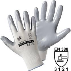 Pracovní rukavice Worky 1155, nylon s nitrilovým nátěrem na dlani, velikost 8