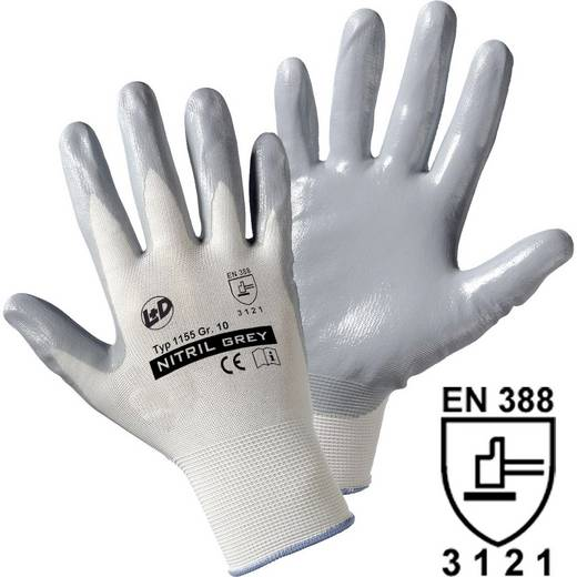 worky 1155 Nitril-Feinstrickhandschuh 100% Nylon mit Nitrilkautschuk-Beschichtung Größe (Handschuhe): 9, L