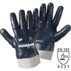 Pracovní rukavice L+D Cross-Nitril 1452, Nitrilový kaučuk, zcela potažený, velikost rukavic: 10, XL