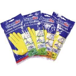 Úklidové rukavice, přírodní latex, velikost 7, žlutá