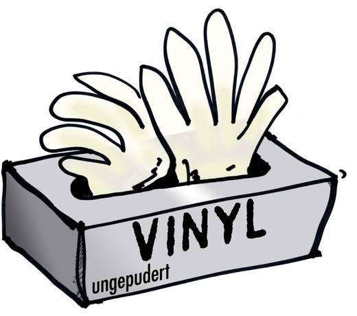 Vinyl Einweghandschuh Größe (Handschuhe): 10, XL EN 455 Leipold + Döhle 14695 100 St.