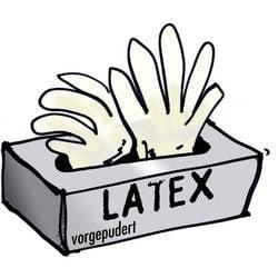 Jednorázové latexové rukavice Leipold + Döhle 14699, velikost M, transparentní, 100 ks