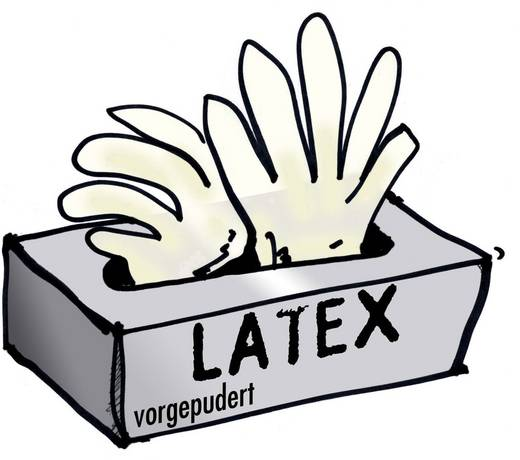 Latex Einweghandschuh Größe (Handschuhe): 9, L EN 455 Leipold + Döhle 14699 100 St.