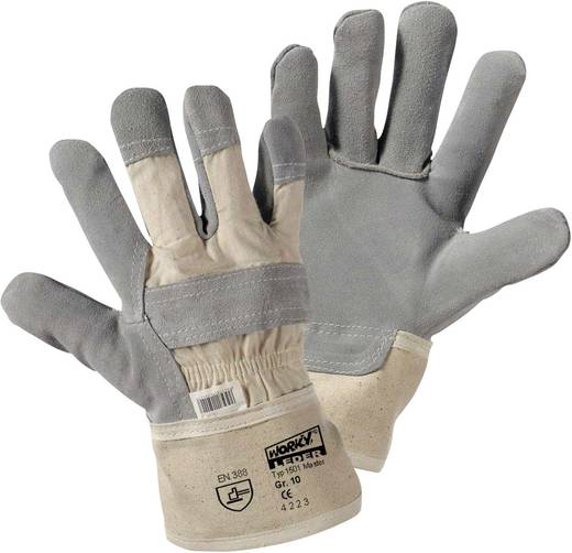 Rindspaltleder Arbeitshandschuh Größe (Handschuhe): 10, XL EN 388 CAT II worky Master 1501 1 Paar