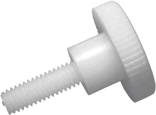 Rändelschrauben M5 10 mm Schlitz DIN 465 Kunststoff, Polyamid 10 St. TOOLCRAFT 830396