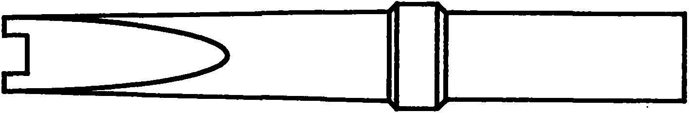 XHT C//3,2 x 1,2 mm Weller Lötspitze Typ XHT Meißelform gerade