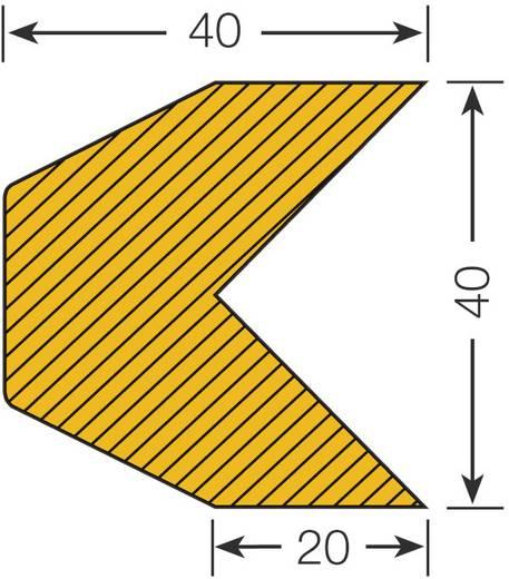 Moravia 422.14.275 Warn- und Schutzprofil (L x B x H) 1000 m x 40 mm x 40 mm