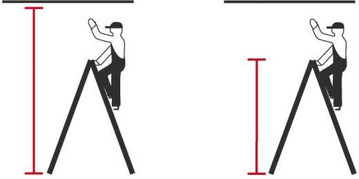 Aluminium Stufen-Doppelleiter fahrbar Arbeitshöhe (max.): 3.15 m Krause 124852 Silber 11.6 kg