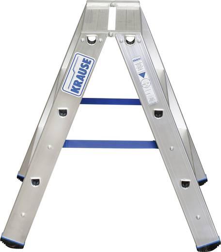 Aluminium Stufen-Doppelleiter Arbeitshöhe (max.): 2.25 m Krause PROFI-STUFEN-DOPPELLEITER (ALU), 2X3 STU 124715 Silber 4.2 kg