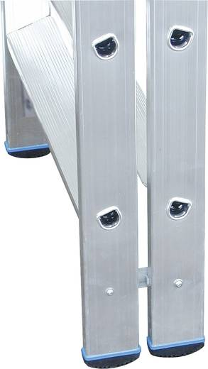 Aluminium Stufen-Doppelleiter Arbeitshöhe (max.): 2.25 m Krause Double échelle professionnelle (ALU), 2X3 STU 124715 Si