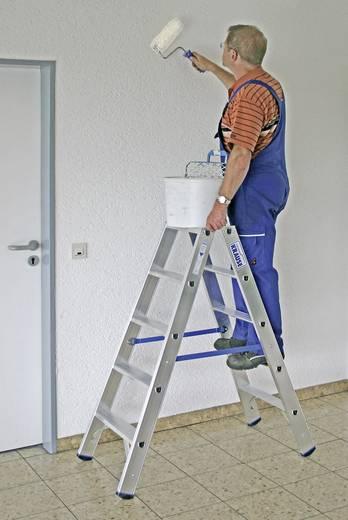 Krause 124739 Aluminium Stufen-Doppelleiter Arbeitshöhe (max.): 2.70 m Silber 6.7 kg