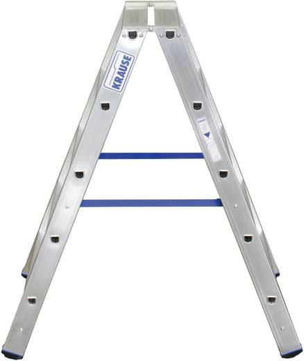 Aluminium Stufen-Doppelleiter Arbeitshöhe (max.): 2.70 m Krause Double échelle professionnelle (ALU), 2X5STUF STU 12473