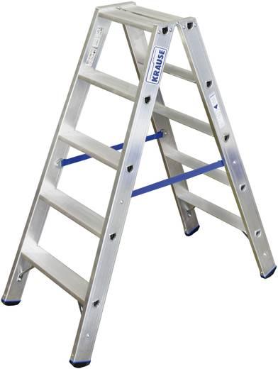 aluminium stufen doppelleiter arbeitsh he max m krause 124739 silber 6 7 kg kaufen. Black Bedroom Furniture Sets. Home Design Ideas