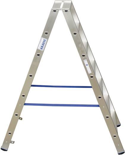 Aluminium Stufen-Doppelleiter Arbeitshöhe (max.): 3.15 m Krause 124753 Silber 9.3 kg