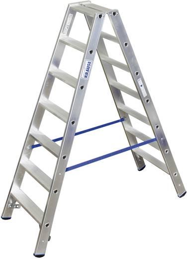 Aluminium Stufen-Doppelleiter Arbeitshöhe (max.): 3.40 m Krause Double échelle professionnelle (ALU), 2X8 STU 124760 Si