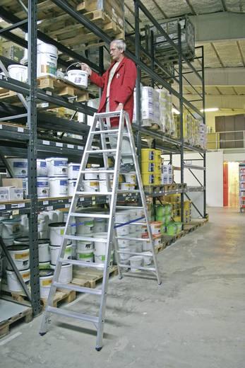 Aluminium Stufen-Doppelleiter Arbeitshöhe (max.): 3.85 m Krause 124777 Silber 14 kg